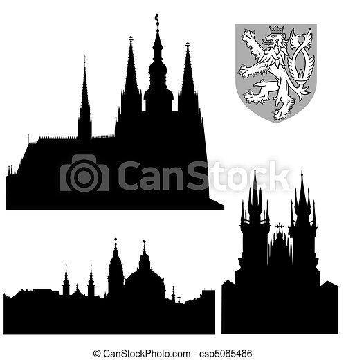 Prague monuments - csp5085486