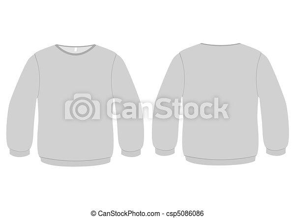 Basic sweater vector illustration. - csp5086086