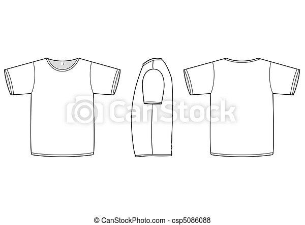 Basic t-shirt vector illustration. - csp5086088