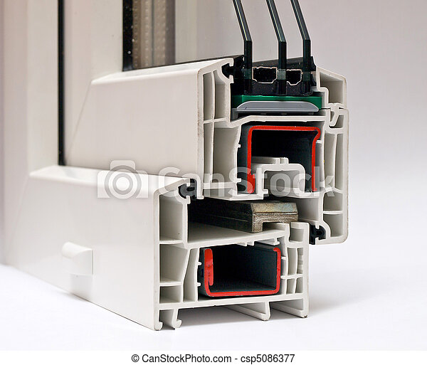PVC profile system for windows manufacturing - csp5086377