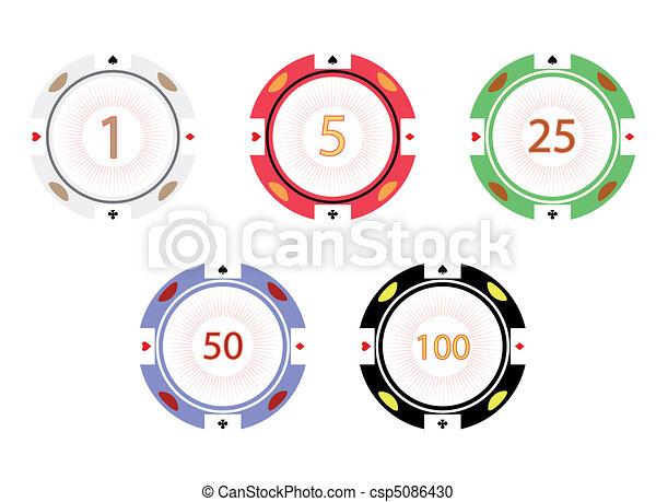 Gambling chips, vector illustration - csp5086430