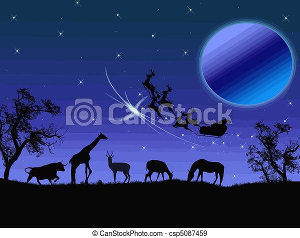 Santa Claus in Africa - csp5087459