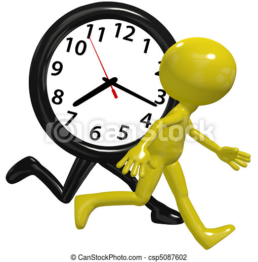 Person clock hurry race run busy day time - csp5087602