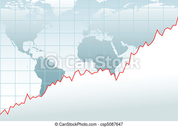 Chart global economy financial growth map - csp5087647