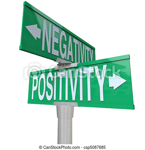 Positivity vs Negativity - Two-Way Street Sign - csp5087685