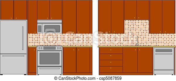 Kitchen interior - csp5087859