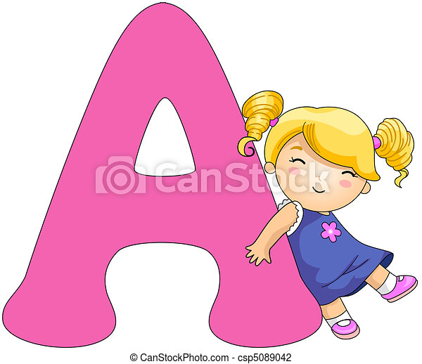Letter A Clipart - Synkee