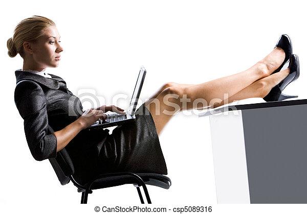 Secretary working - csp5089316