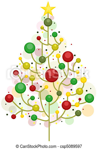 Christmas Tree Design Royalty Free Clip Art Csp5089597