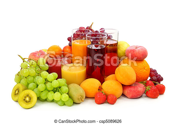 Fresh fruits and juice - csp5089626