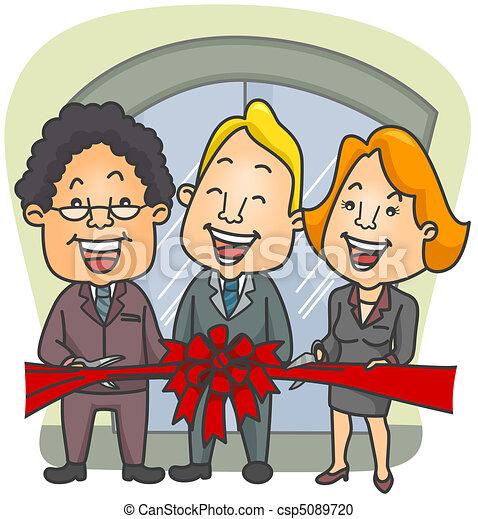 Ribbon Cutting Ceremony - csp5089720