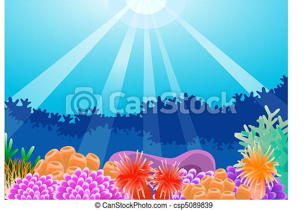 Under water sea life - csp5089839