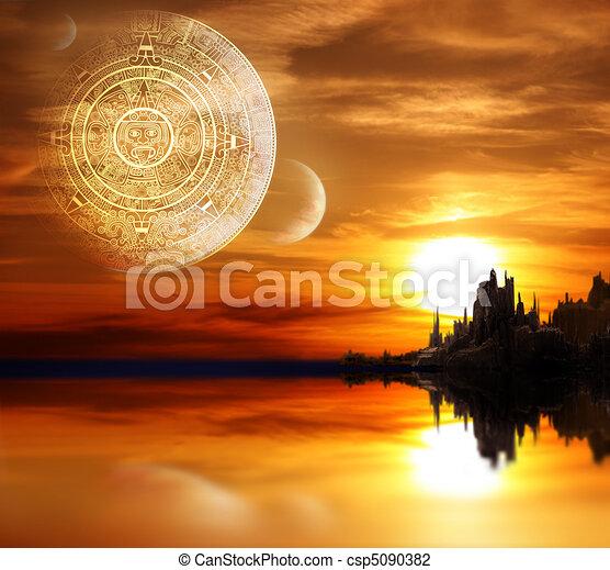 Maya prophecy - csp5090382