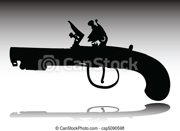 old weapons vector silhouettes - csp5090598