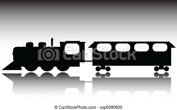old train vector silhouettes - csp5090600