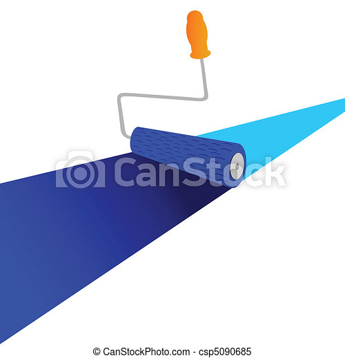 painting line with roller vector - csp5090685