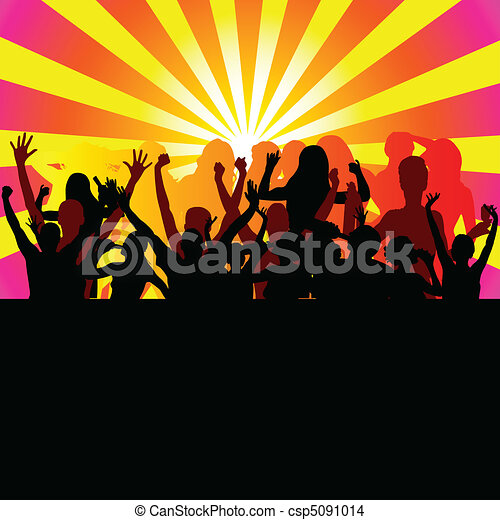 party from dusk till dawn vector - csp5091014