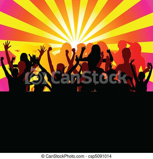 party from dusk till dawn vector - csp5091014