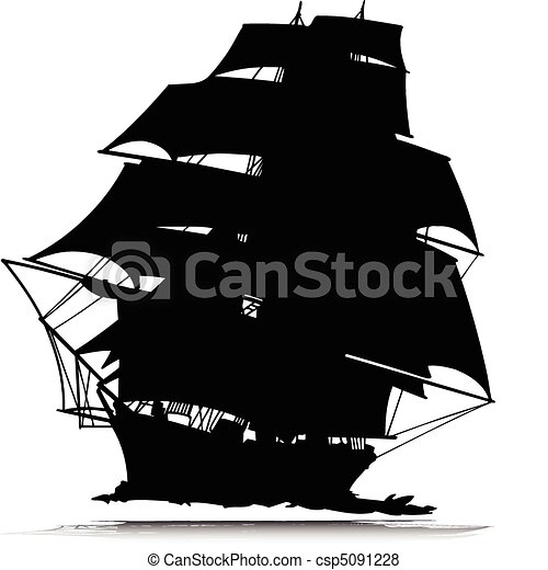 pirates ship one vector silhouettes - csp5091228
