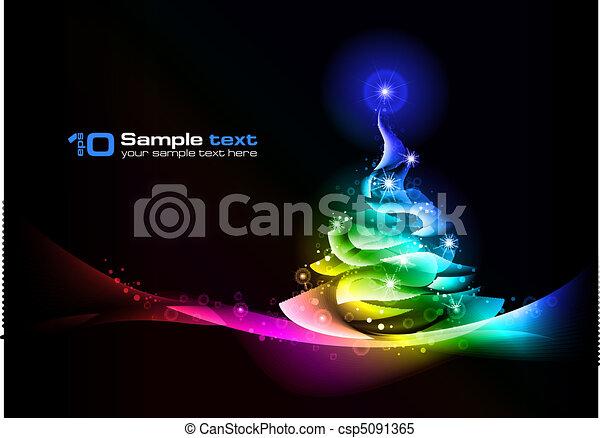Christmas tree. Vector abstract design. - csp5091365