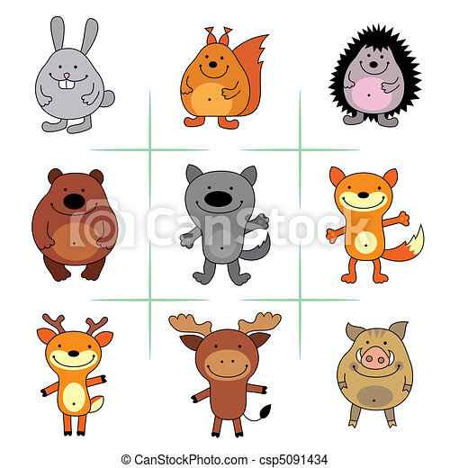 forest animals - csp5091434