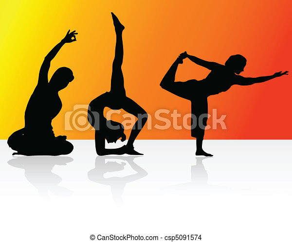 relaxation with yoga - csp5091574