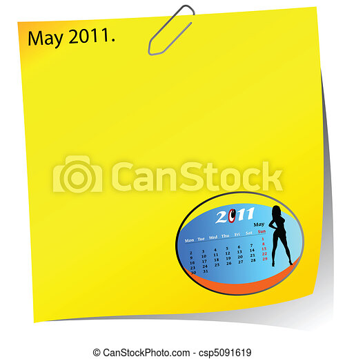 reminder of may 2011 - csp5091619