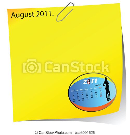 reminder of august 2011 - csp5091626