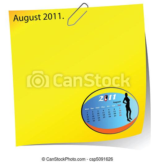 reminder of august 2011 - csp5091626