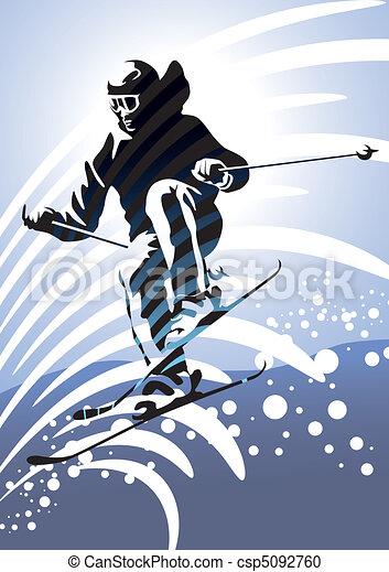 Downhill Skiing - csp5092760