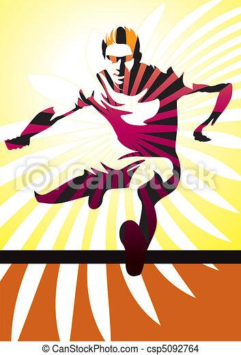 Hurdle Athlete - csp5092764