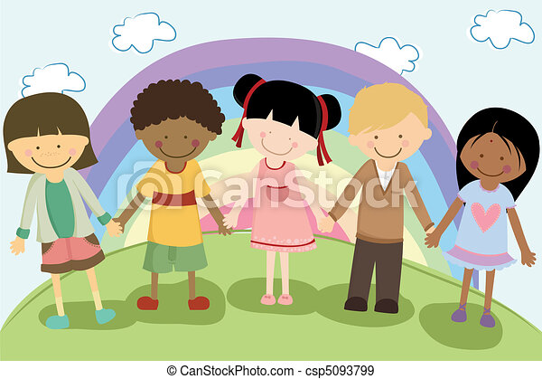 Multi ethnic children - csp5093799