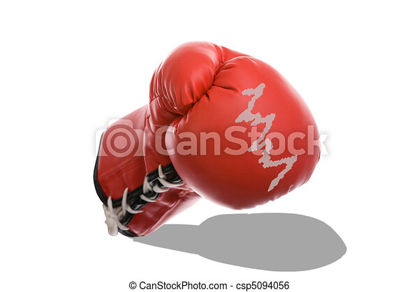 Boxing Gloves as a Symbol of Financial Crisis - csp5094056