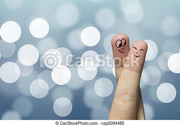 Finger hug - csp5094485