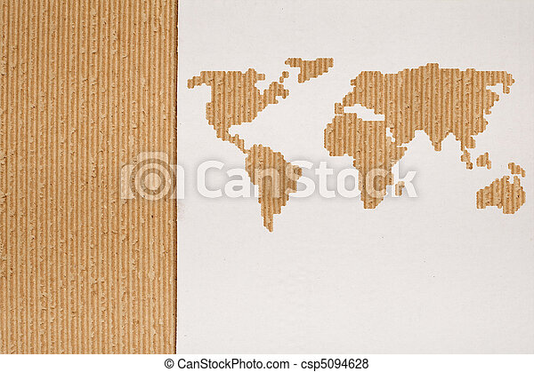 Cardboard background series - global shipping concept - csp5094628