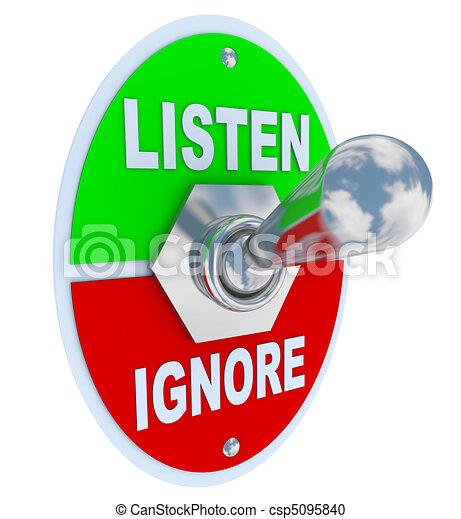 Listen Vs. Ignore - Toggle Switch - csp5095840