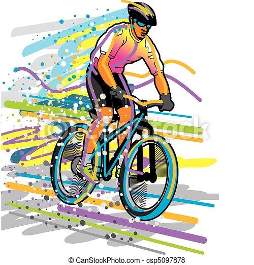Cyclist - csp5097878