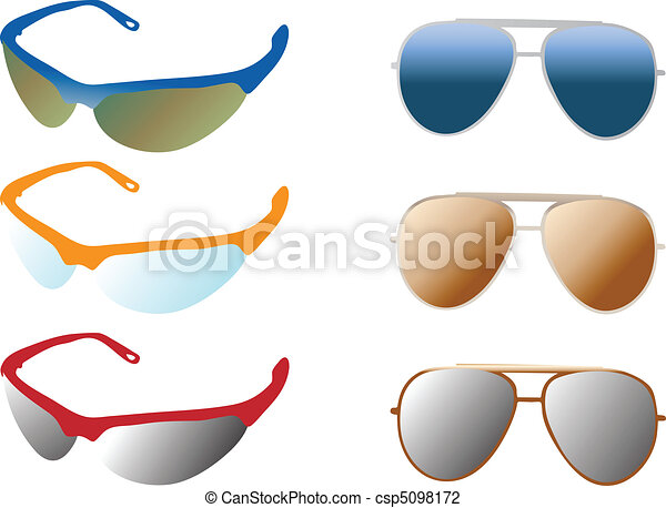 modern and retro sunglasses - csp5098172
