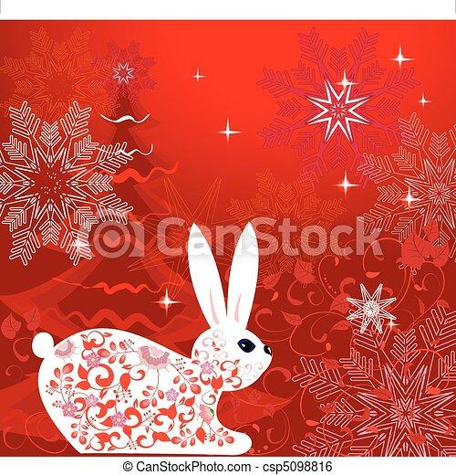 New Year's Rabbit Tree - csp5098816