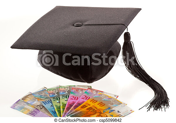 Mortar and Swiss francs. Education costs. - csp5099842