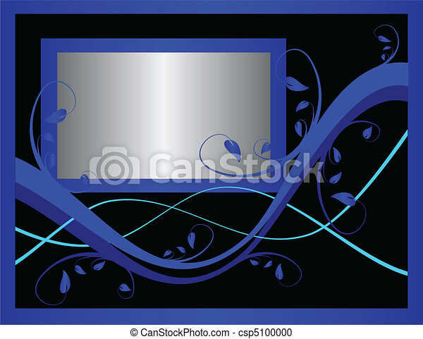 A blue formal floral background - csp5100000