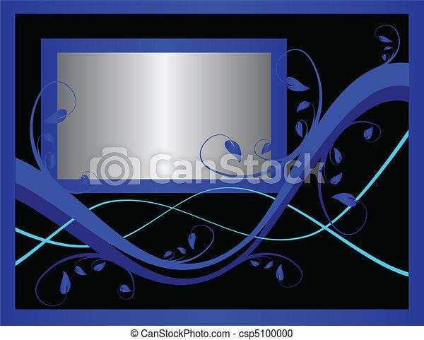 A blue formal floral background - csp5100000