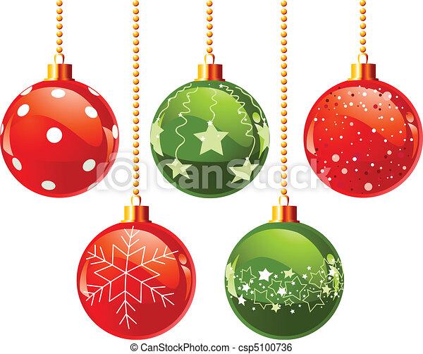 Color Christmas balls - csp5100736