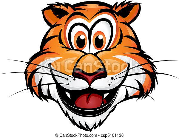 Cute Tiger Mascot - csp5101138