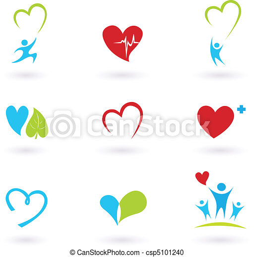 Health and Medical icons on white - csp5101240
