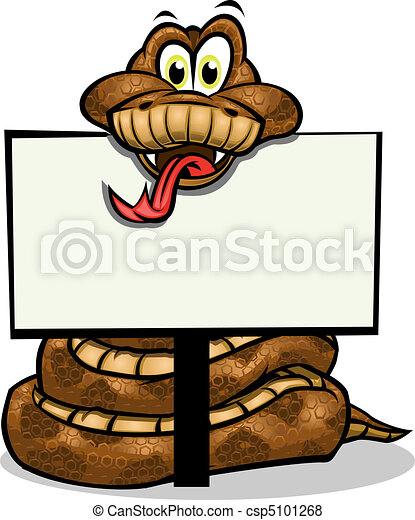 Cute Snake holding sign - csp5101268