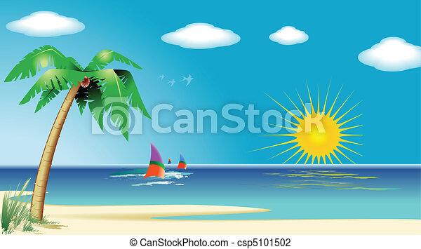 Beach Landscape - csp5101502