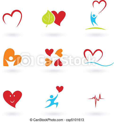 Cardiology and heart icons - csp5101613