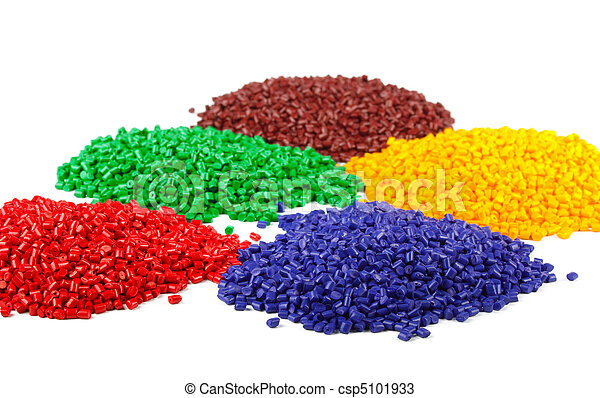 Colourful plastic granules - csp5101933
