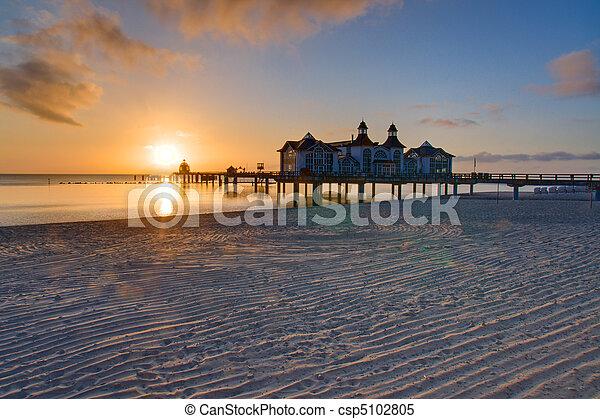 Sunrise at the baltic sea - csp5102805
